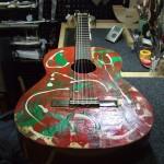 YAMAHA ガットギター ペグ交換