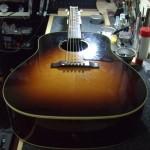 Gibson Custom Shop J-45 ナット作成&弦高下げ