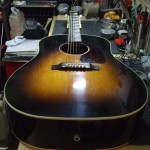 Gibson J-45 リフレット・ナット&サドル作成交換