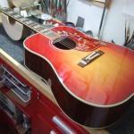 Gibson 1960's Hummingbird VCS ピックアップ取付