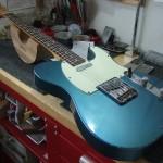 Fender C/S Telecaster Relic LPB フレットすり合わせ&ナット作成