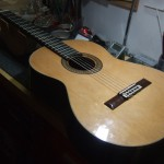 RYOJI MATSUOKA M65 PU取付・ブリッジリシェイプ・ナット&サドル弦高調整