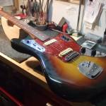 Fender/J Jaguar Jシリアル期 アッセンブリー交換・ナット作成交換・他 オーバーホール